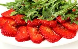 草莓carpaccio 库存照片