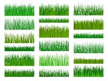 草边界水平的无缝的样式 库存照片
