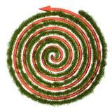 绿草迷宫, 3D 免版税库存图片