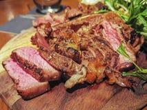草食的里脊肉烤了完成的媒介 库存照片