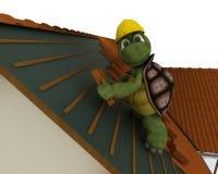 草龟屋顶承包商 免版税库存照片
