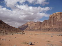 荒凉的沙漠风景 免版税库存照片