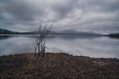 荒凉的洛蒙德湖 免版税库存照片