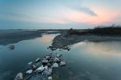 荒原风景青岛瓷 免版税图库摄影