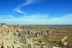 荒地国家公园南达科他美国 免版税图库摄影