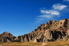 荒地国家公园南达科他美国 免版税库存照片