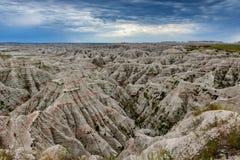 荒地地质风景 图库摄影