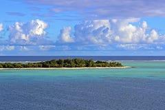 荒岛在南太平洋,密克罗尼西亚 免版税库存图片