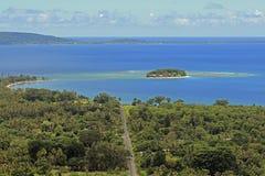 荒岛在维拉港,瓦努阿图,南太平洋 库存照片
