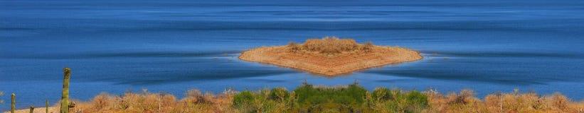 荒岛湖 库存图片