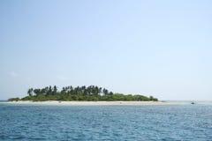荒岛菲律宾天空 库存图片