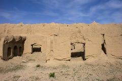 荒废村庄在伊朗。 免版税库存图片