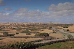 荒废村庄在摩洛哥 免版税库存图片
