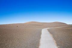 荒芜足迹夏威夷 免版税图库摄影