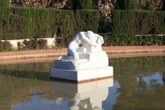 荒芜雕塑, Parc de la Ciutadella在巴塞罗那 免版税库存图片