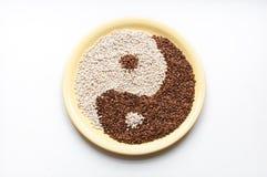 荞麦和大麦的粒 免版税库存图片