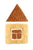 荞麦房子米符号 免版税库存照片
