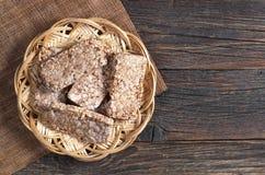 荞麦油炸马铃薯片面包 免版税库存图片
