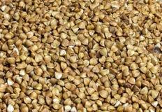 荞麦种子特写镜头在充分的框架的 库存照片