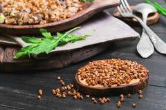 荞麦食物照片 免版税图库摄影