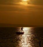 荡桨在日落4 图库摄影