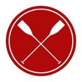 荡桨的真正的体育桨 库存例证