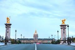 荣军院大厦在巴黎 免版税库存照片