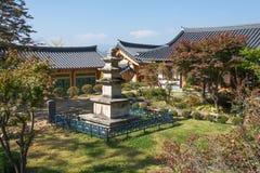 荣州市,韩国- 2014年10月15日:石塔在Buseoksa 免版税库存图片