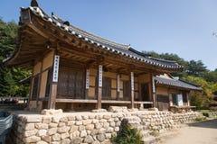 荣州市,韩国- 2014年10月15日:Ugeumchon, Duam老房子  免版税库存图片