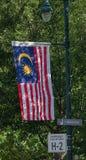 荣耀条纹 --马来西亚,东南亚的旗子 库存图片
