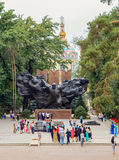 荣耀纪念品  阿尔玛蒂,哈萨克斯坦 库存图片