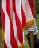 荣誉和旗子 免版税库存图片