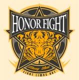 荣誉战斗泰拳 向量例证
