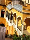 荣誉豪华楼梯在费拉拉,意大利 库存图片
