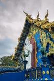 荣Suea十寺庙Wat荣Suea十或蓝色寺庙 库存图片