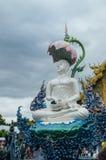 荣Suea十寺庙Wat荣Suea十或蓝色寺庙 免版税图库摄影