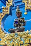 荣Suea十寺庙Wat荣Suea十或蓝色寺庙 图库摄影