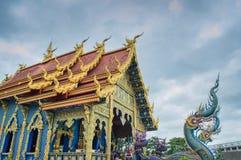 荣Suea十寺庙Wat荣Suea十或蓝色寺庙 免版税库存照片