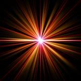 荧光燃烧的五颜六色的能源的展开 免版税库存图片