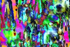 荧光的五颜六色的艺术摘要 库存图片