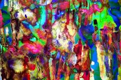 荧光的五颜六色的艺术摘要 免版税库存照片