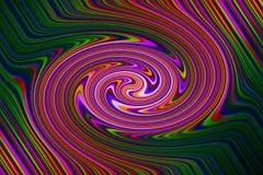 荧光的减速火箭的漩涡背景 紫色,绿色等 库存照片