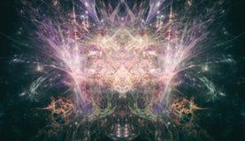 荧光的分数维艺术PsyTrance概念 库存照片