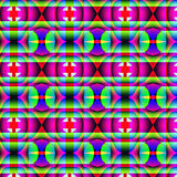 荧光的奇怪的几何样式 库存例证