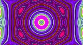 荧光的对称摘要样式和催眠背景,设计墙纸 库存例证