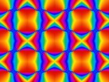 荧光的彩虹无缝的瓦片 库存图片