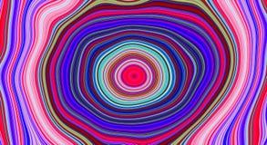 荧光的抽象样式和催眠背景趋向艺术的,漩涡颜色 向量例证