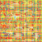 荧光的种族分界线和波浪几何抽象背景导航例证 库存图片