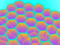 荧光的蜂房 免版税图库摄影