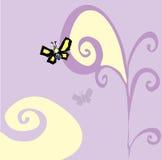 荧光的蝴蝶 图库摄影